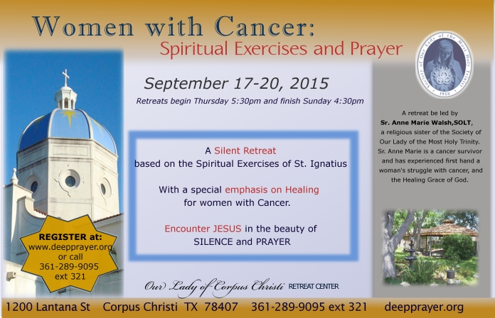 Spiritual Exercises for Women with Cancer FLYER